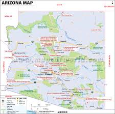 Colorado On The Us Map by Arizona Map Map Of Arizona Az Map