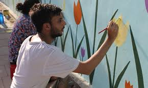 Wall Painters by In Karachi When On The Wall Disappears Pakistan Dawn Com