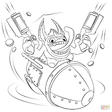 happy ghost clipart skylanders trigger happy coloring page free printable coloring pages