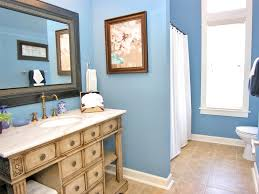 bathroom minimalist bathroom classic vanity blue wall ideas