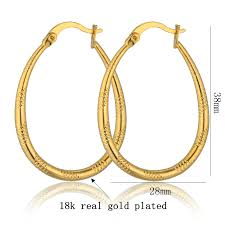 large gold hoop earrings aliexpress buy large gold hoop earrings gold color