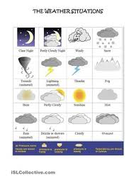 16 best esl efl weather images on pinterest weather worksheets