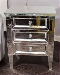 Unfinished Nightstand Bedroom Magnificent Hayworth Mirrored Nightstand Gold Mirrored
