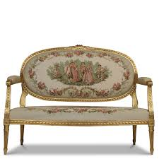 French Settee Loveseat French Louis Xvi Style Gilt Antique Settee Loveseat Sofa Early