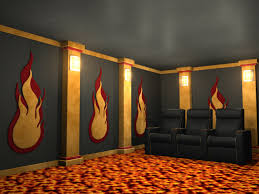 Home Theatre Wall Decor Flames Theater Wall Accessories
