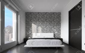chambre avec papier peint chambre chambre moderne chambre coucher moderne banque images