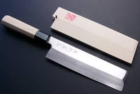semi stainless steel yoshihiro cutlery yoshihiro mizu yaki hongasumi ginsanko high carbon stain resistant edo usuba traditional japanese vegetable chopping chef