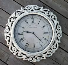 shabby chic extra large wall clock with intricate frame design