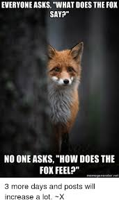 What Does The Fox Say Meme - everyone asks what does the fox say no one asks how does the fox