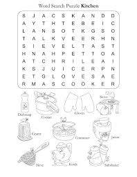 coloring pages of kitchen things word search puzzle kitchen download free word search puzzle