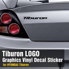 2003 hyundai tiburon turbo logo graphics vinyl decals custom car sticker 2p for hyundai 2002