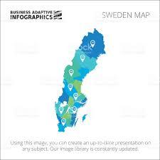 Map Sweden Sweden Map Template 1 Stock Vector Art 497816544 Istock