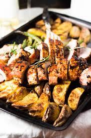 Roast Vegetables Recipe by One Pan Roasted Pork Tenderloin With Veggies 30 Minute Meal