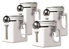 white ceramic kitchen canisters oggi ceramic kitchen canister sets ebay