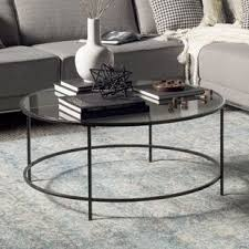 round glass cocktail table round coffee tables you ll love wayfair