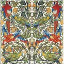 victorian fireplace tiles and backsplash de morgan parrots and macaws