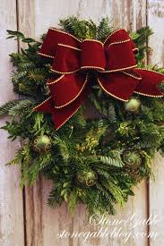 How To Make Christmas Wreath With Ornaments The Easiest Way To Make A Live Wreath Stonegable