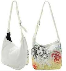 disney loungefly tangled rapunzel sketch lotus flower hobo bag