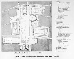 plan of the forum of pompeii 2nd century bc r q p civic