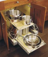 Kitchen Cabinet Inserts Organizers Contemporary Kitchen Ideas With Silver Metallic Rack Pot Pans