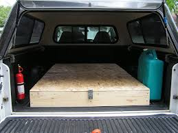 bed of truck homemade cing truck bed storage and sleeping platform truck