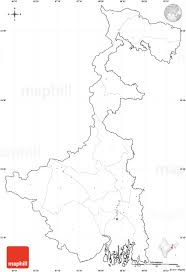 Blank Map Of Asia Quiz by Blank Simple Map Of West Bengal Cropped Outside No Labels