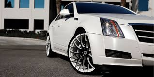 white cadillac cts black rims cadillac cts monoblock slate gallery asanti wheels