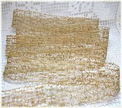 may arts metallic antique gold mesh ribbon 1 5 ra32