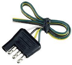 4 way flat light connector amazon com reese towpower 74124 12 4 way flat trailer end