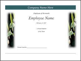 100 employee certificate templates free awards certificates