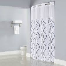 interesting bathroom design with shower curtain with matching