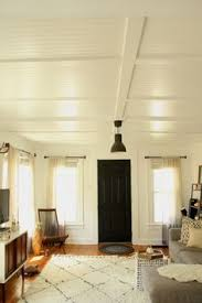 Painting Drop Ceiling by How To Plank A Popcorn Ceiling With Lightweight Tongue And Groove