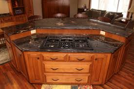 kitchen triangle design with island black central kitchen storage with cool sink and countertops on