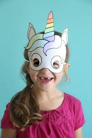 unicorn masks to print and color free printable it u0027s always autumn