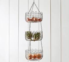 where to buy fruit baskets farmhouse wire hanging fruit basket pottery barn