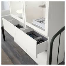 Ikea Besta Glass Doors by Bestå Storage Combination W Glass Doors White Selsviken High Gloss