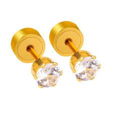 ear piercing studs exquisite beautiful stud earrings for women men zircon ear