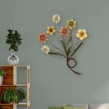 home depot wall decor multicolored flower metal work wall decor 2169 the home depot