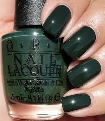 opi front runner is an ultra dark moss green crème esmaltes