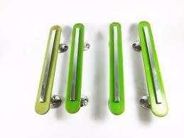 50 s retro cabinet hardware 4 vintage green plastic bakelite style cabinet door handles chrome
