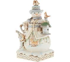 jim shore heartwood creek white woodland snowman figurine page 1