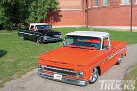 1966 and 1964 chevy c10 double whammy custom classic trucks