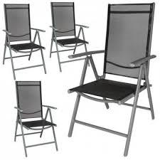 chaise de jardin 4x chaise de jardin en aluminium chaise de cing chaise pliante à