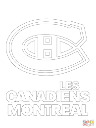 montreal canadiens logo coloring page free printable coloring pages