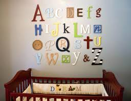 Wall Letter Decals For Nursery Letter Wall Decals For Nursery Wooden Alphabet Letters Set Nursery