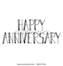 vector lettering happy anniversary stock vector