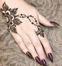 minimal henna design simple flowery mehndi design on like