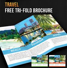 island brochure template free tri fold travel brochure template fieldstation co