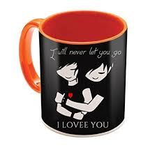 mug design buy sky trends valentine gifts orange mug design 117 online at low