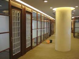 wall partition ideas beautiful office design with wood trim glass